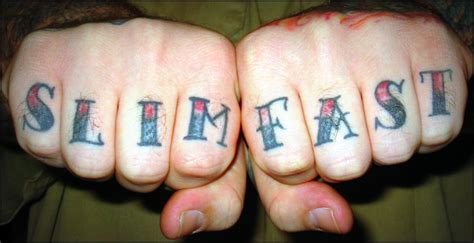 knuckle tattoos quot slim fast quot a photo on flickriver