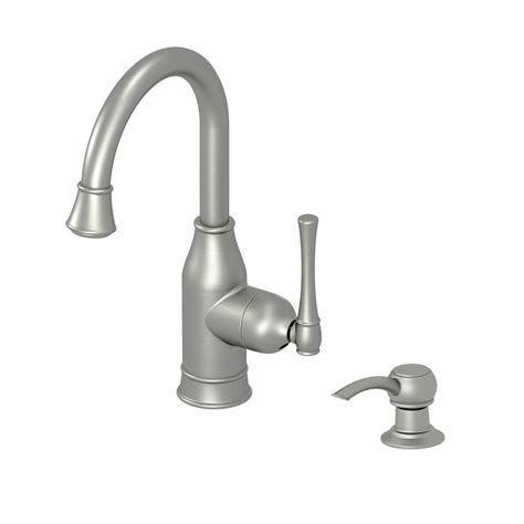 aquasource kitchen faucets shop aquasource stainless steel pvd 1 handle handle bar