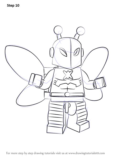 how to color a learn how to draw lego killer moth lego step by step