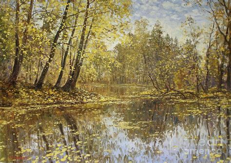 autumn landscape painting by andrey soldatenko