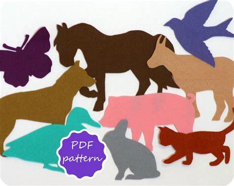 felt storyboard templates felt farm animals pdf pattern for flannel board instant