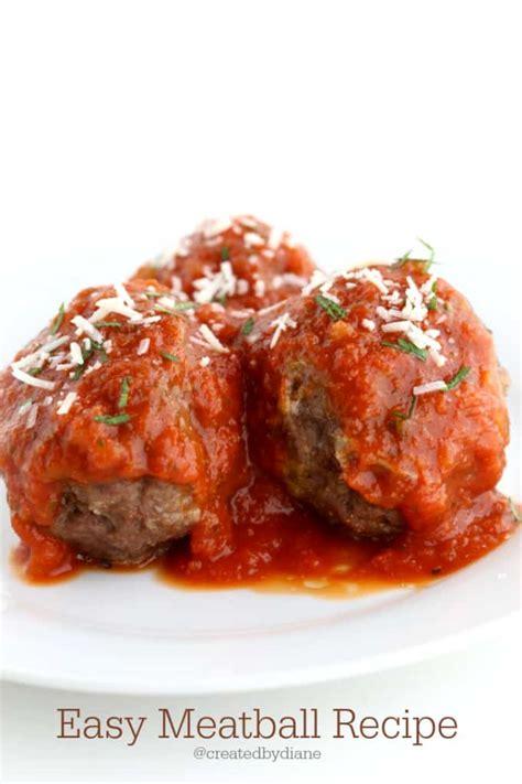 italian meatball recipe created by diane