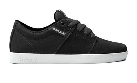 Hk 8 898 Black supra stacks 2 skate shoes uk 8 black white