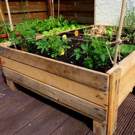 Garden Boxes Ideas Best 25 Pallet Planter Box Ideas On