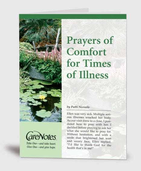 prayers of hope and comfort carenotes take one and take heart give one and