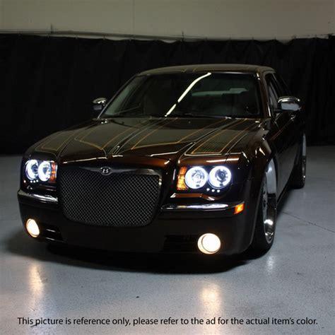 Chrysler 300c Headlights by 2005 10 Chrysler 300c Smoke Led Halo Led Projector Headlights