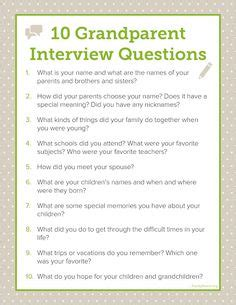 biography questions for family members if you want to find out more about your family download