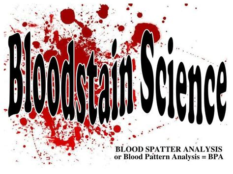bloodstain pattern analysis lab report ppt blood spatter analysis or blood pattern analysis