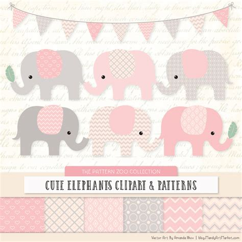 pink elephant pattern soft pink patterned elephant clipart and patterns