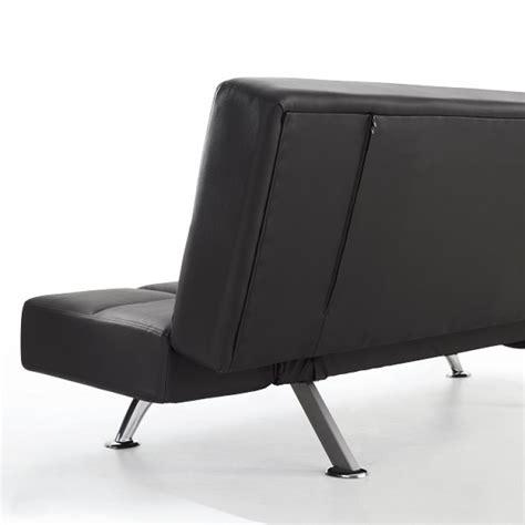 venice black faux leather sofa bed serene venice black faux leather sofa bed by serene
