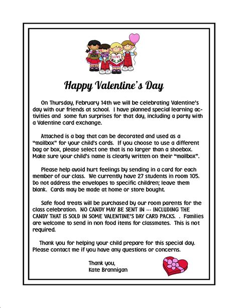 valentines letter for s day parent letter the best letter sle
