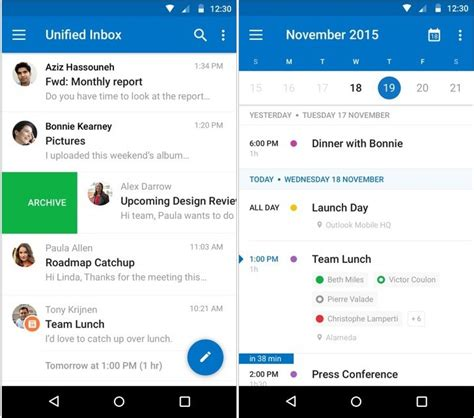 outlook calendar android outlook for android gets a makeover will incorporate calendar features as sees