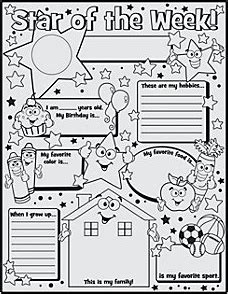 of the week poster template of the week poster lesson planning