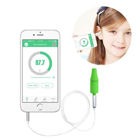 Thermometer Infrared Di Apotik didicer smart digital infrared ear thermometer green