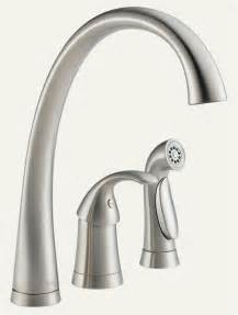 delta faucets kitchen sink pilar faucet and sprayer in stainless steel