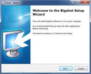 bigshot use process install