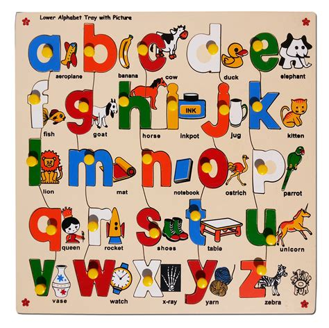 puzzle alphabet skillofun lower abc alphabet puzzle with picture and knobs