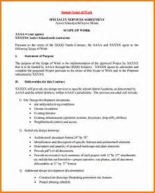 technical scope document template 12 scope of work template cashier resume