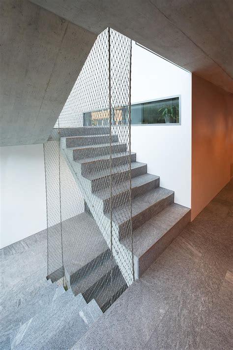 brutally minimal balustrade comprising  stainless steel