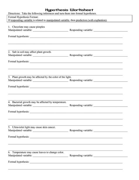 independent and dependent variables worksheet middle school 17 best images about scientific method on middle school science science activities