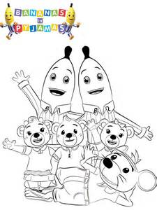 banana pajamas colouring pages free coloring pages art coloring pages