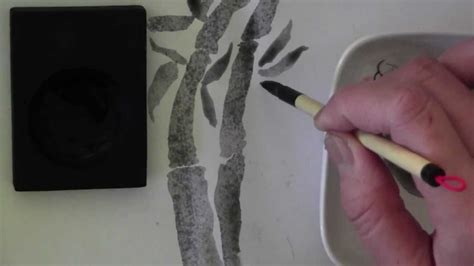 how to remove ink stains bamboo cane or painted japanese chinese brush calligraphy ink stick bamboo