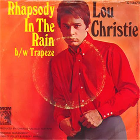 lou christie rhapsody in the rain classic bubblegum 45 lou christie rhapsody in the rain
