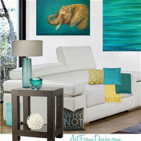 Teal And Brown Bedroom Decor by Teal Decor Turquoise And Orange Yellow From Artfromdenise