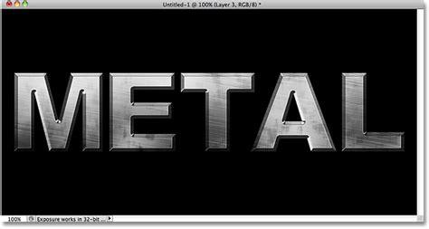 metal typography photoshop tutorial metal text effect in photoshop