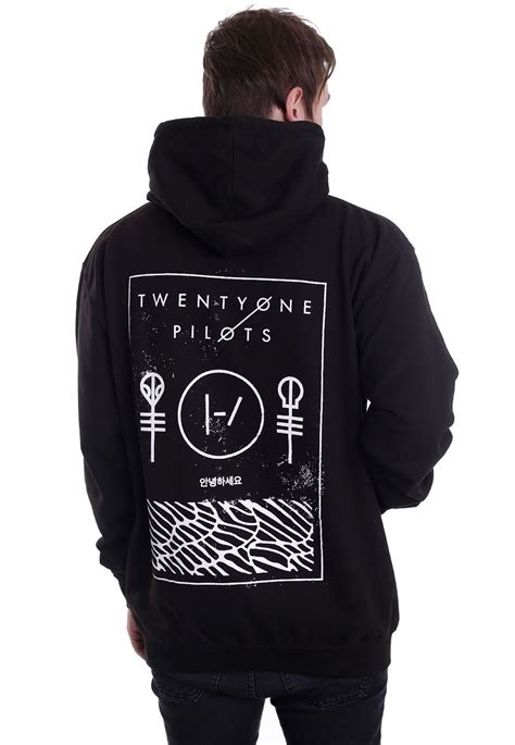 twenty one pilots thin line box hoodie official emo