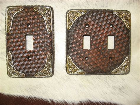 western light switch covers western light switch plates tooled basketweave look