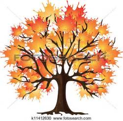 Tree Mural For Wall clipart of art autumn tree maple k11412630 search clip