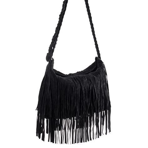 Tassel Bag new black fringe tassel shoulder messenger bag