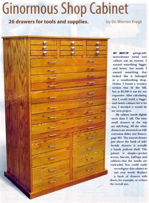 Ginormous Shop Cabinet Plans ? WoodArchivist