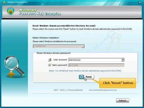 windows  password recovery   change password