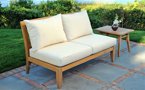 patio furniture loveseat patio loveseat sonoma armless