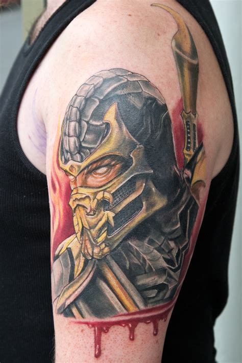 amazing scorpion tattoo mortal kombat tattoos