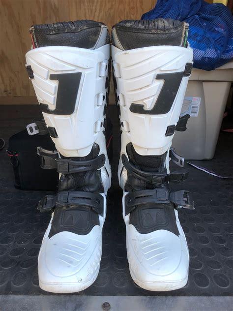 jett motocross boots jett boots size 9 white for sale bazaar motocross