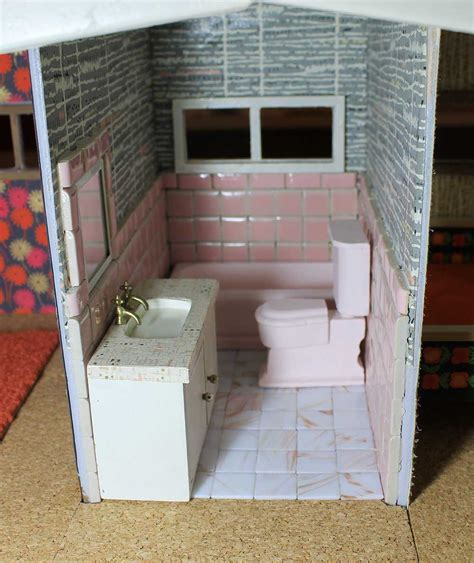 dollhouse bathroom a vintage pink bathroom for the dollhouse including