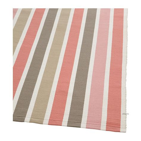 runner rugs ikea ikea emmie pink beige white stripes area throw runner rug mat reversible flatwoven handwoven