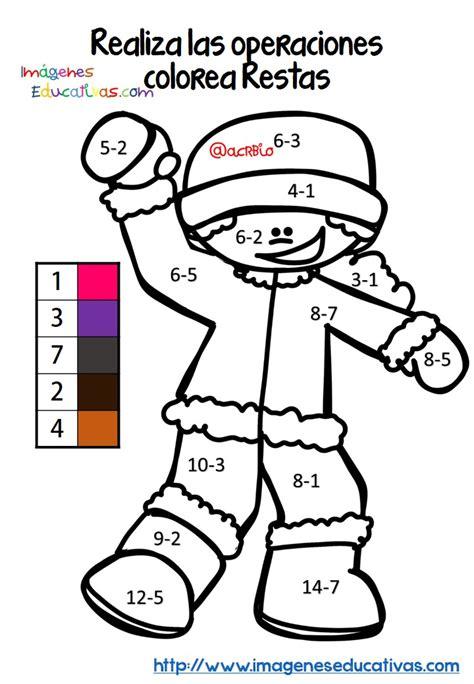 imagenes educativas trabadas fichas colorear sumas y restas 2 imagenes educativas
