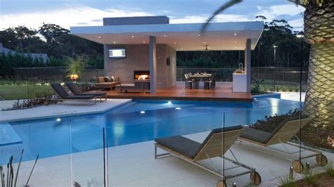 Contemporary Dining Room Ideas 15 Transparent Glass Swimming Pool Safety Fences Home