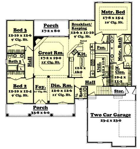 floor plan abbreviations european style house plan 3 beds 2 5 baths 2400 sq ft plan 430 33