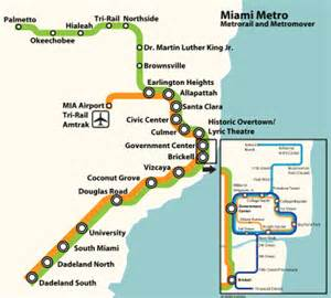 Miami Transit Map by Map Of Miami Metrorail Network
