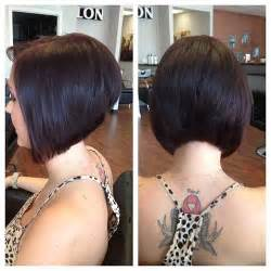 diagonal forward haircut layered bob haircut and diagonal forward