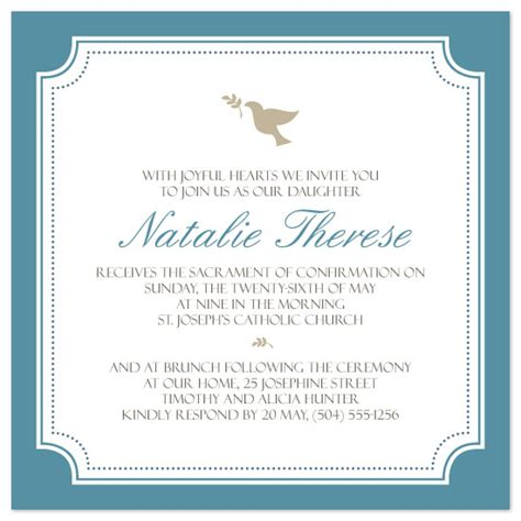 confirmation invitations templates invitations simple dove confirmation invite at