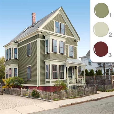 exterior home colors that match green roof myideasbedroom