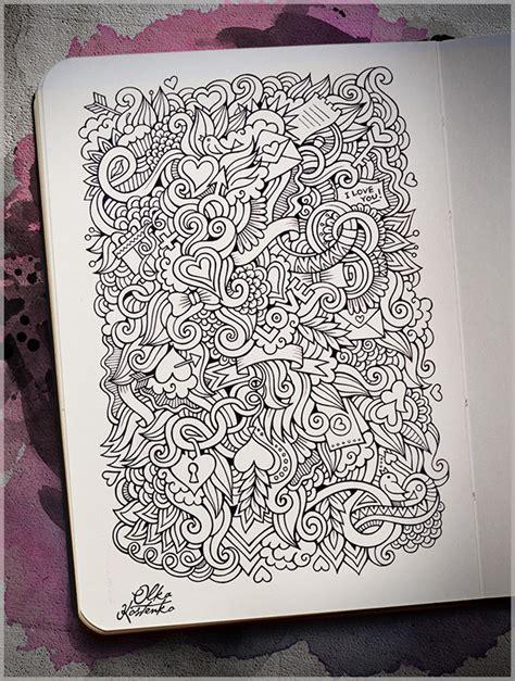 doodle pattern love love doodles pattern on behance