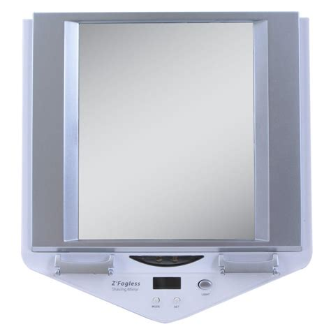home depot lighted mirrors zadro fogless lighted shower mirror in white z700w the