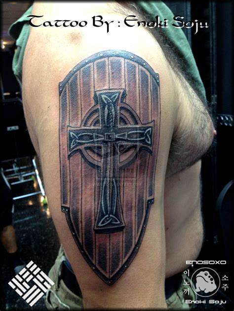 cross shield tattoo custom celtic sword cross shield by enoki soju by